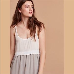 NWT Aritzia Wilfred Bisous silk maxi dress - xs
